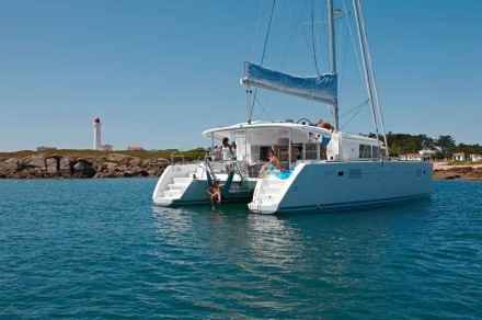 Lagoon 450 sailing catamaran for skippered charters in Italy by Catamaran Charter Italy