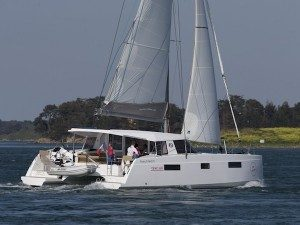 NAUTITECH OPEN 40 sailing catamaran for skippered charters in Italy by Catamaran Charter Italy