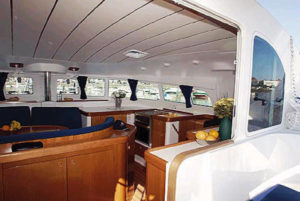 Lagoon 410 Sailing Catamaran for bare boat and skippered charters in Italy by Catamaran Charter Italy