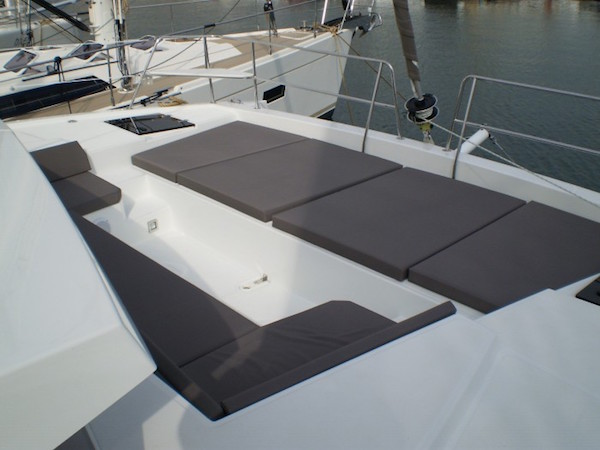 Bali 4.0 Sailing Catamaran for bare boat and skippered charters in Italy by Catamaran Charter Italy